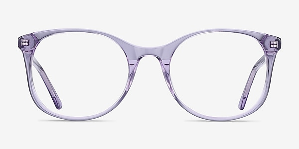 Greta Clear Purple Acetate Eyeglass Frames