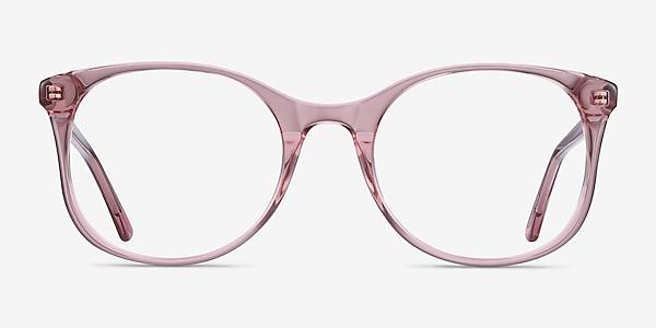 Greta Clear Pink Acétate Montures de lunettes de vue