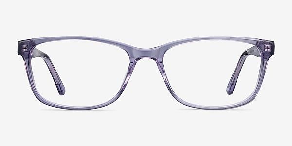 Marion Clear Purple Acetate Eyeglass Frames