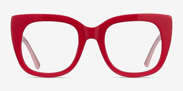 Unique Red & Pink Acetate Eyeglass Frames