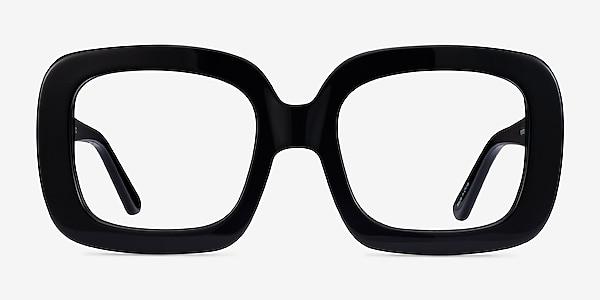 Gloria Noir Acétate Montures de lunettes de vue