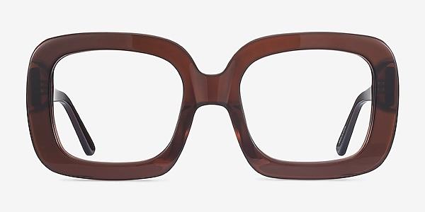 Gloria Marron Acétate Montures de lunettes de vue