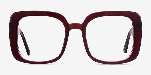 Heather Burgundy Acétate Montures de lunettes de vue