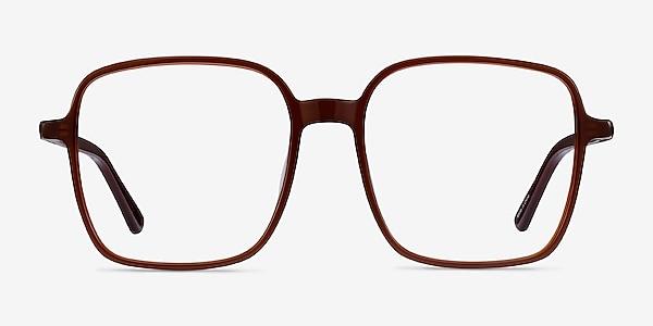 Sixto Café Acétate Montures de lunettes de vue