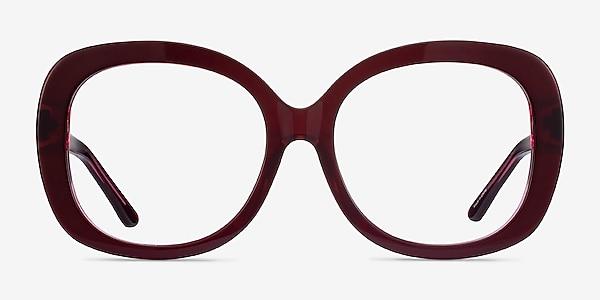 Pamela Burgundy Acetate Eyeglass Frames