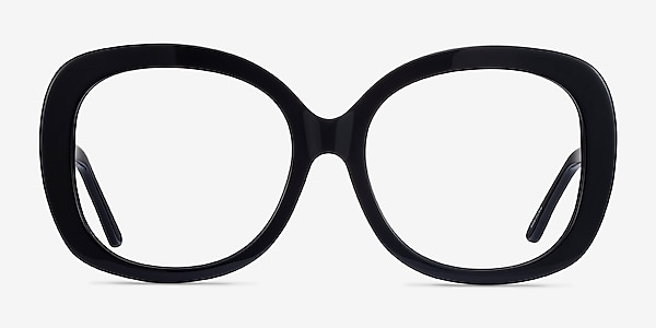 Pamela Black Acetate Eyeglass Frames