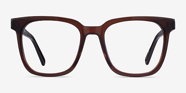 Kenneth Café Acétate Montures de lunettes de vue