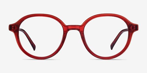 Satisfy Clear Red Acetate Eyeglass Frames