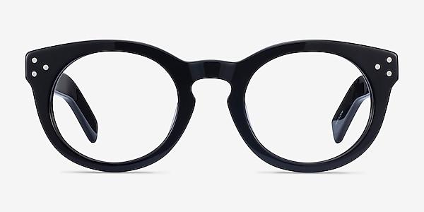 Morla Noir Acétate Montures de lunettes de vue