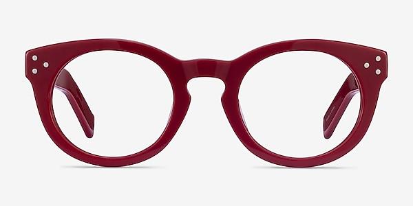 Morla Burgundy Acétate Montures de lunettes de vue