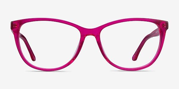 Solitaire Pink Acetate Eyeglass Frames