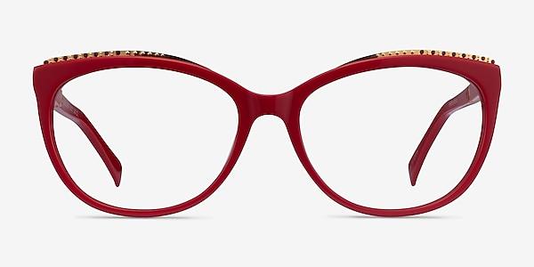 Brilliance Red Acetate Eyeglass Frames
