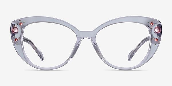 Diamond Clear Acetate Eyeglass Frames
