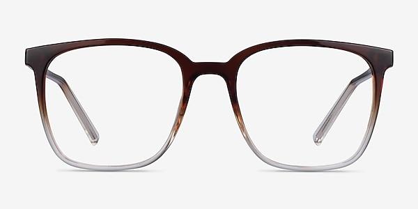 House Gradient Brown Plastic Eyeglass Frames