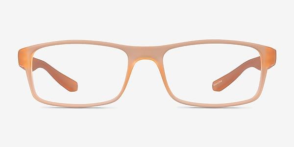 Over Light Orange Plastique Montures de lunettes de vue