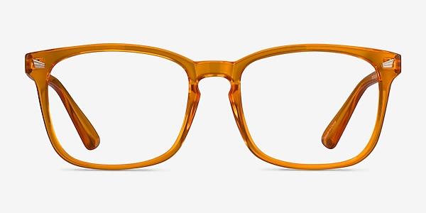 Hope Clear Orange Plastic Eyeglass Frames