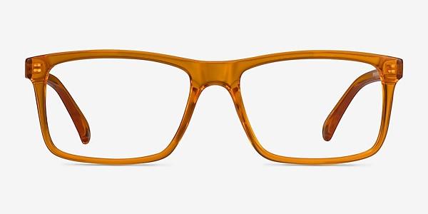 Community Clear Orange Plastique Montures de lunettes de vue