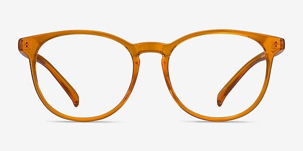 Rainbow Clear Orange Plastique Montures de lunettes de vue