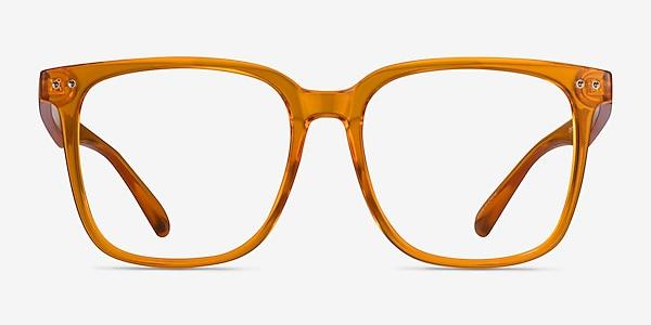Freedom Clear Orange Plastic Eyeglass Frames