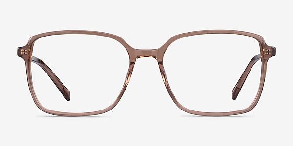 Nonchalance Clear Brown Acétate Montures de lunettes de vue