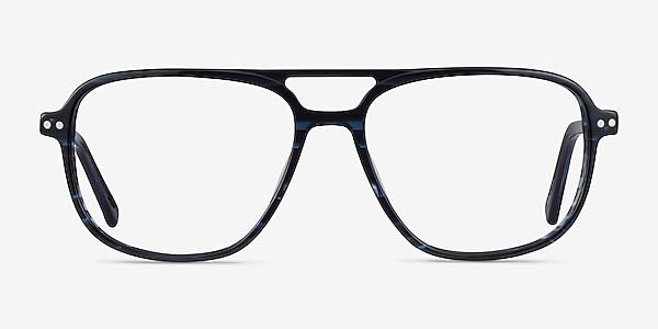 Spirit Blue Striped Acétate Montures de lunettes de vue