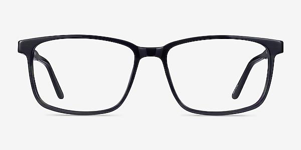 Shift Green Black Striped Acetate Eyeglass Frames