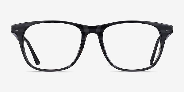 Easy Gray Striped Acétate Montures de lunettes de vue