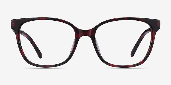 Miracle Red Tortoise  Black Acetate Eyeglass Frames