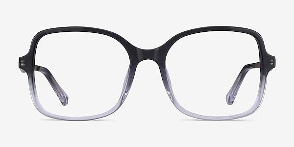 Clematis Black Clear Acétate Montures de lunettes de vue