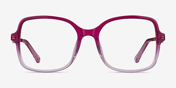 Clematis Clear Pink Acetate Eyeglass Frames