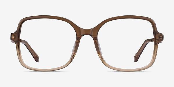 Clematis Clear Brown Acetate Eyeglass Frames