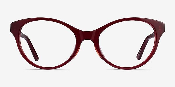 Dilly Burgundy Acétate Montures de lunettes de vue