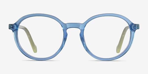 Happy Clear Blue Green Acétate Montures de lunettes de vue