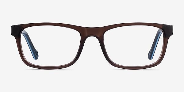Scuba Brown Blue Acétate Montures de lunettes de vue