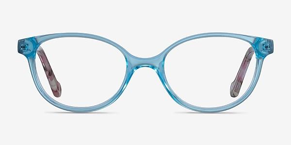 Grenadine Clear Blue Floral Acetate Eyeglass Frames