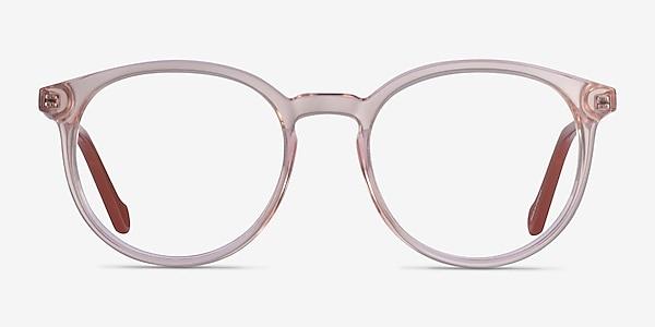 Saturn Clear Pink Terracotta Acetate Eyeglass Frames