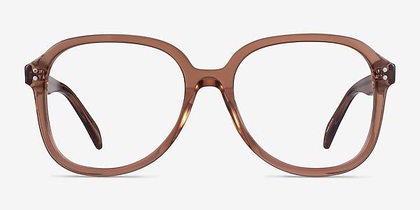 Tripp Clear Brown Acetate Eyeglass Frames