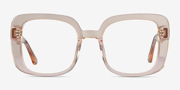 Calista Clear Yellow Acetate Eyeglass Frames