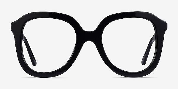 Cathy Noir Acétate Montures de lunettes de vue