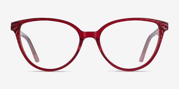 Wonder Clear Red Pink Acetate Eyeglass Frames