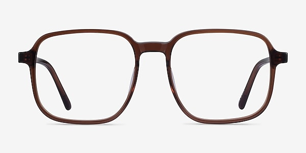 Ozone Clear Brown Acetate Eyeglass Frames