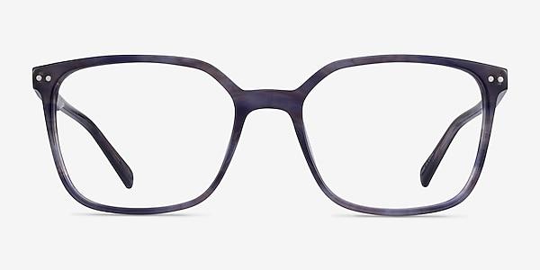 Conscious Blue Striped Acetate Eyeglass Frames