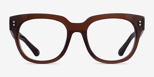 Life Clear Brown Acetate Eyeglass Frames