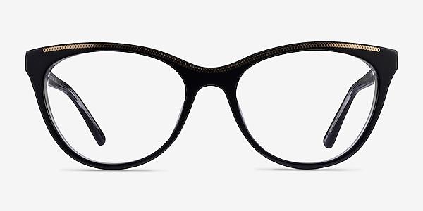 Felicity Black Gold Acetate Eyeglass Frames