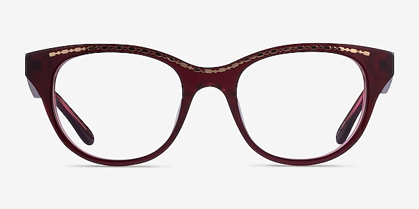 Arcady Burgundy Gold Acetate Eyeglass Frames