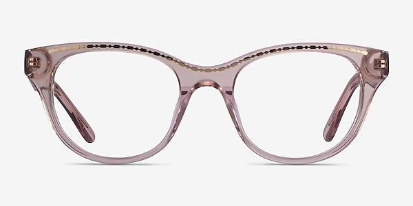Arcady Clear Pink Gold Acétate Montures de lunettes de vue