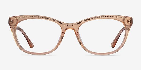 Arabesque Clear Orange Gold Acetate Eyeglass Frames