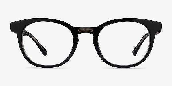 Hoop Black Gold Acetate Eyeglass Frames