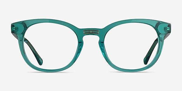 Hoop Emerald Green Gold Acétate Montures de lunettes de vue