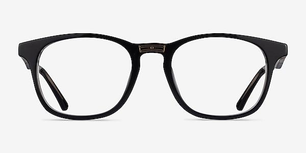 Casting Black Gold Acetate Eyeglass Frames